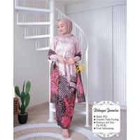 Baju Kebaya Couple Brukat Batik Setelan Wanita Muslim Pasangan Modern - kebaya cream