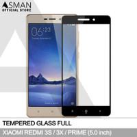 Tempered Glass Full Xiaomi Redmi 3s / 3x   Anti Gores Kaca - Hitam