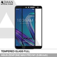 Tempered Glass Full Asus Zenfone Max Pro (M1) | Anti Gores Kaca Hitam