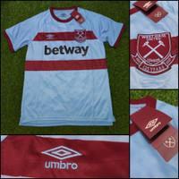 Jersey Kaos Baju Bola Westham West Ham United Away Biru 2020/2021 GO