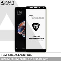 Tempered Glass Full Xiaomi Redmi Note 5 Pro | Anti Gores Kaca - Hitam