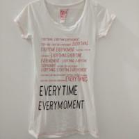 kaos baju fashion atasan wanita remaja warna putih adem casual LD 76