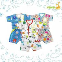 Baju Anak Bayi Velvet Junior Pendek/ Pakaian Baby SNI - M