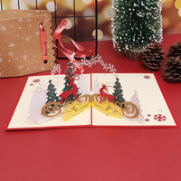Christmas Deer Greeting Card 3D Pop Up Kartu Ucapan Natal Merry Xmas