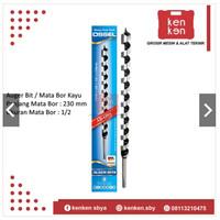 Mata Bor Kayu Spiral Panjang Auger Wood Bit Drill 1/2 x 230 mm