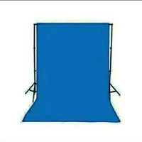 Backdrop Background Screen Foto Blue Biru Polos 200 x 300 Cm Tebal