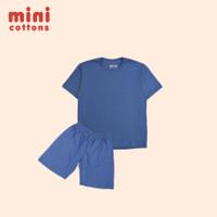 MINI COTTONS KIDS SET SLATE BLUE TEE