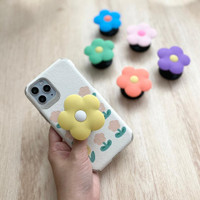 FLOWER GRIP Phone Holder Griptok Grip Bunga Phone Grip Murah Penyangga - BLUE