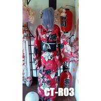 Yukata Kimono Kostum Wanita Jepang Cosplay - Baju Tradisional Sakura