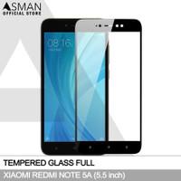 Tempered Glass Full Xiaomi Redmi Note 5A | Anti Gores Kaca - Hitam
