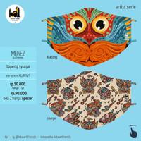 Art Mask 2ply - Monez - Topeng Syurga