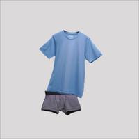 Paket Bundling Underwell Underwear & Kaos Pria Sky Blue on Dark Grey