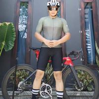 Setelan Baju Sepeda Sxb Sultan Roaming Dark Green Road Bike Jersey