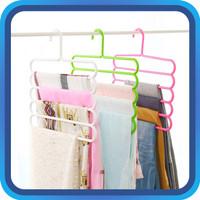 Raja - Hanger Jilbab 5 in 1 / Hanger Baju / Hanger Hijab / Gantungan J