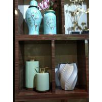 Guci Keramik Mint (L) / Pot bunga / Aksesoris Hiasan Meja Modern
