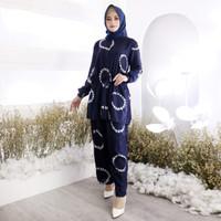 piyama wanita muslimah baju muslim baju tidur jumbo younbi set