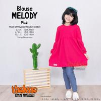 BLOUSE ANAK Perempuan Baju Tunik Atasan Cewek Melody Lucu Tln