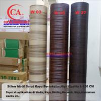 Stiker Kaca,Dinding,Meja, motif serat kayu High Quality L-120 CM