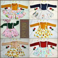 dress overall 1-2 tahun gamis overal lengan panjang baju anak cewek