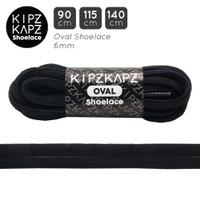 BLACK 115cm 140cm Oval Shoelace Tali Sepatu Olahraga HITAM KipzKapz