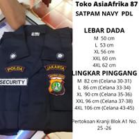 Stelan Pakain Seragam Security Pria | Setelan Baju PDL Lengan Panjang