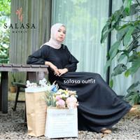 Gamis wanita terbaru INSHIRA DRESS gamis pesta brukat bridesmaid dress - Hitam