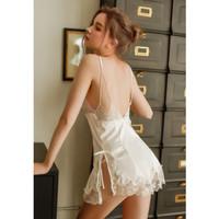 Venus Leon ~ Felicia White Premium Sexy Lingerie Baju Tidur Wanita