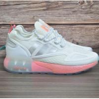 Adidas ZX 2K Boost Women White Pink Sepatu Sneakers Jalan Wanita