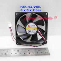 Fan 24 Vdc ( Fan kipas 8.cm x 8.cm.x 2.cm.) DC BRUSHLESS FAN /24.Vdc