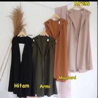 outer kantor outer kerja rompi L XXL luaran baju mustard vest wanita