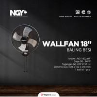 Wall Fan Kipas Angin Dinding Baling Besi Nagoya 18 Inch 18 NG-1802 WF