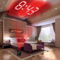 Jam Alarm Projection LCD Digital Clock Voice Thermometer