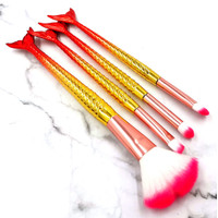 (4 IN 1) MERMAID BRUSH MAKE UP SET / KUAS MERMAID /MAKE UP SET MERMAID