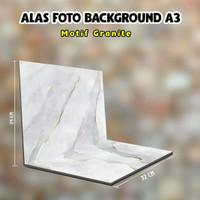 Background Alas Foto Produk Lipat Uk A3+ Tema Marble Granite(AMG)