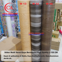 Stiker kaca,dinding,meja Motif Serat Kayu L-120 CM HIGH QUALITY