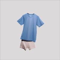 Paket Bundling Underwell Underwear & Kaos Pria Sky Blue on Beige