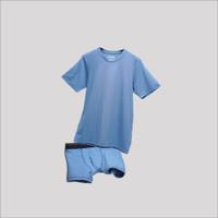 Paket Bundling Underwell Underwear & Kaos Pria Sky Blue