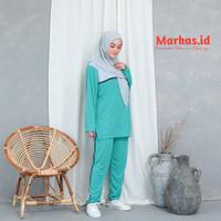Setelan olahraga wanita senam muslim Baju trening Murah