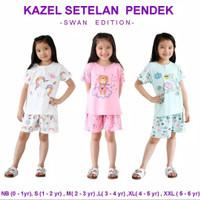 Kazel setelan pendek Swan Edition/ kazel piyama