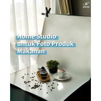 Mini Studio / Alas foto - Paket 60cm BG Warna + STAND BS70