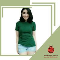 Baju New Top Line Knit Atasan Wanita Rajut Premium Polos Blouse Pendek