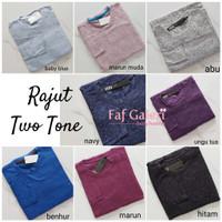 Baju Rajut Two Tone Lengan Panjang - Baju Atasan Wanita Tangan Panjang