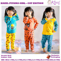 Kazel piyama anak perempuan sunny edition/baju tidur anak perempuan