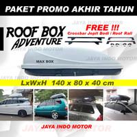 Roofbox Roof Box 400L Bagasi atas mobil 1 Paket