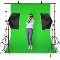 Kain Greenscreen Tebal 100gsm Background Foto - Biru Muda