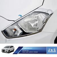 Datsun Go go+ Garnish depan chrome krom silver lis list lampu