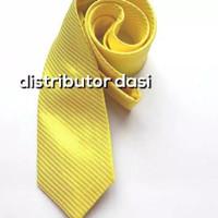 dasi pria panjang warna kuning garis halus