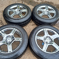 velg krum AMG ring 17 pcd 5×114,3/112 ban Toyo 225/60 R17