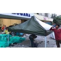 atap tenda lipat 3x3 bahan uno 410gsm