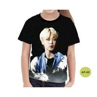Kaos Anak Perempuan BTS Series 3D Baju BTS Anak Keren dan Murah #AP-60